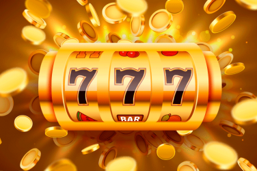 golden slot reels with triple 7 paying symbol