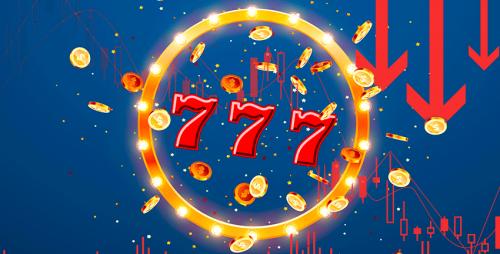 Triple 7 slot game symbol in golden circle