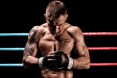UFC fighter ready for combat