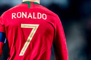 Ronaldo number 7 shirt of Portugal