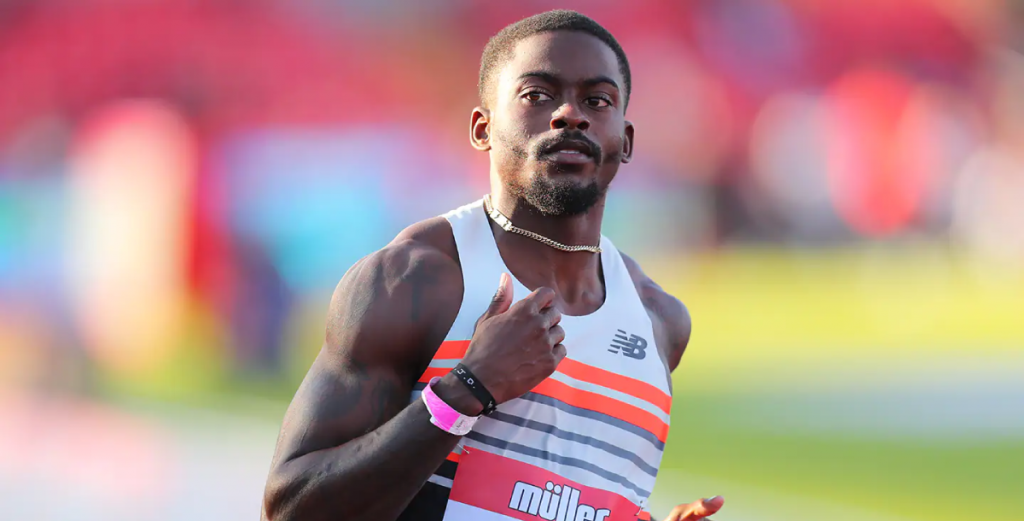 Trayvon Bromell running Olympic Games trials
