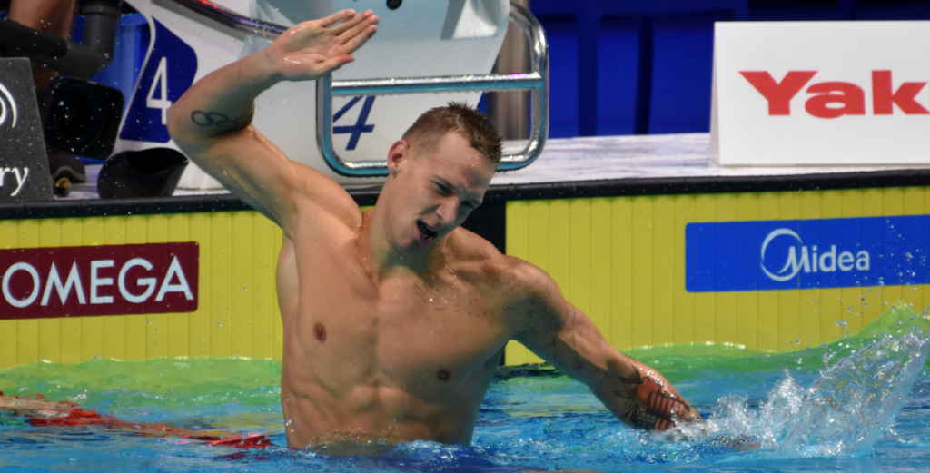 Caeleb Dressel in freestyle trial for the Olympic Games 2021