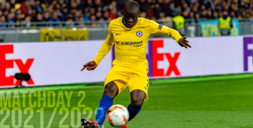 N'golo Kanté playing for Chelsea